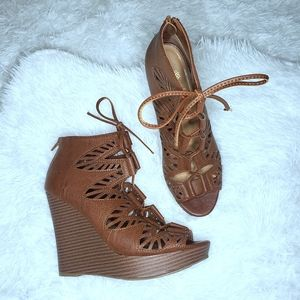 Sbicca Laser Cut Wedges 8